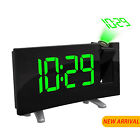 LED Dual Alarm Clock Projection Digital SNOOZE Timer FM Radio Ceiling USB Charge