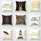 Christmas Pillow Case Xmas Cotton Sofa Throw Cushion Cover Home Decor Gift