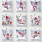 "18x18"" Christmas Sofa Pillow Case 3D Snowman Cushion Cover Decorative Covers"