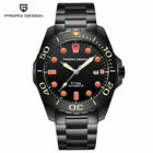 New Luxury PAGANI DESIGN Stainless Steel Strap Mens Automatic Mechanical Watches
