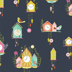 Dashwood - Cuckoo's Calling - Colourful Cuckoo Clocks Cotton Fabric Patchwork Se