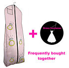 Large Pink Storage Garment Bag Bride Wedding Dress Cover - HERE COMES THE BRIDE