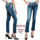 Jeans REPLAY pantaloni donna DOMINIQLI cropped boot aderente stretch WA646F. 205