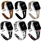 38/40/42/44mm Leather Watch Bands Strap For iWatch Apple Watch Series 4/3/2/1 image
