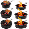 Fire Pit Patio Heater Drop-in Fireplace Large Firepit Garden Plant Bowl Outdoor