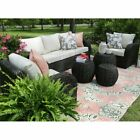 1~6pcs Rattan Wicker Sofa Set Sectional Couch Cushioned Furniture Patio Outdoor