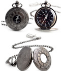 Vintage Skeleton Steampunk Dial Mechanical Pendant Pocket Watch Gift Chain New image