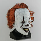 UK Joker Pennywise Mask Stephen King It Chapter Two 2 Cosplay Latex Scary Prop
