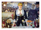 HD Art Fabric Printed Oil Painting Bar in the Folies-Bergere by Manet Multi Size