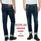 Jeans da uomo REPLAY GROVER regular slim aged 1 year power stretch MA972 141 590