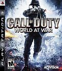 Call of Duty: World at War PS3 with Manual Sony PlayStation 3 2008 Free Shipping