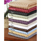 Full Size 1 PC Fitted Sheet Extra Deep Pocket Egyptian Cotton Striped Colors image