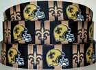 "Grosgrain Ribbon 7/8"" & 1.5"" Football New Orleans Saints Sport Team Printed. $0.99 USD on eBay"