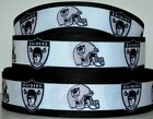 "Grosgrain Ribbon 7/8"" & 1.5"" Football Oakland Raiders Sport Team Printed. $0.99 USD on eBay"