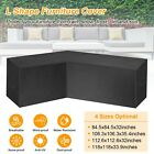 Black L Shape Sofa Cover Patio Outdoor Garden Furniture Waterproof Protector Us
