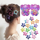 12PCS Set Kids Barrettes Girls BB Clip Candy Color Hair Clips Accessories New