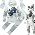 Kid Teen DJ Marshmello Hoodie Pant Gloves Mask Complete Costume Halloween Party