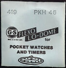 GS Crystals - Flexo Lo-Dome for Pocket Watches and Timers - Various Sizes image