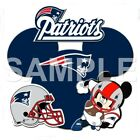 Disney New England Patriots personalized iron on transfer (choice of 1) $3.25 USD on eBay