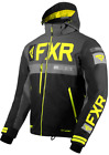 2020 FXR Mens HELIUM X Black/Charcoal/Hi Vis Snow Winter Jacket Parka - LARGE