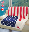 Sherpa Throw Blanket Flag Print, Super Cozy  TV Blankets for Bed or Couch image