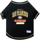 San Francisco 49ers Officially Licensed NFL Dog Pet Tee Shirt, Black XS-XL $22.95 USD on eBay