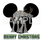 Disney Star Wars Christmas personalized iron on transfer (choice of 1) $3.0 USD on eBay
