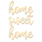 Home Sweet Home Wording-Wooden Home Sweet Home Sign-Laser Cut Wording