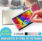 """10.1"""" WIFI/4G-LTE HD PC Tablet Android 9.0 bluetooth 6 128G SIM GPS Dual Camera"""