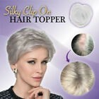 Women Natural Full Cover Silky Clip-On Hair Topper Hair Extension Hairpiece New