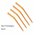 4pcs Tea Pipette Bar New Drinking Straw Pyrex Glass Straight Bend Reusable