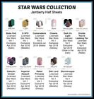 jamberry half sheets ~ star wars collection boba c3po chewie droids sith unrest $4.95 USD on eBay