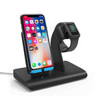 USA Qi Wireless Charger Stand For Apple iWatch 5 4 3 2 1 For iPhone 11 Pro Max