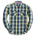 Superdry NEW Men's Washbasket Shirt - Vintage Gold Check BNWT