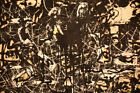 Jackson Pollock Yellow Islands HD Print on Canvas Large Wall Picture #PM327
