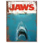 Metal Signs - JAWS Movie Film Retro Plaque Vintage Kitchen Mancave Bar Tin Sign