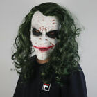 US Batman Dark Night The Joker Mask Clown Halloween Party Props Latex 2 Color