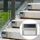 8Pcs Outdoor Solar LED Deck Garden Stair Step Fence Lights Wall Pathway Post