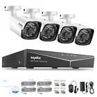 SANNCE 4CH 1080P NVR PoE CCTV Outdoor HD 2MP Security Camera System IP Network
