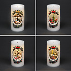Musical Christmas Real Wax Candle Light Moving Figures Xmas Home LED Decorations
