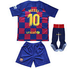 New Lionel MESSI #10 Barcelona  Home Kids Soccer Jersey & Shorts Set Youth Sizes