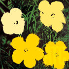 "36Wx36H"" FLOWERS (TINTS TONES OF YELLOW) 1964 by ANDY WARHOL - CHOICES of CANVAS"