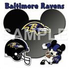 Disney Baltimore Ravens personalized iron on transfer (choice of 1) $3.25 USD on eBay