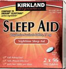 Kirkland Signature Sleep Aid Doxylamine Succinate 25mg Fall Asleep Fast Tablets $6.99 USD on eBay