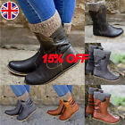 WOMENS ANKLE BOOTS COMBAT ARMY MILITARY BIKER FLAT LACE UP WORK SHOES SIZE BLACK
