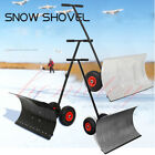 Manual Snow Shovel Snow Pusher on Wheels Garden Plough Blade Thrower Removal