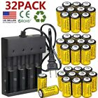 2800mah Batteries Cr123a 16340 Rechargeable Li-ion Battery Smart Charger Lot