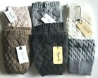 Faybox Crochet Cable Knit Leg Warmer Boot Topper Cuff Brown Grey Gray Cream NEW