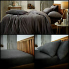 Teddy Bear Fleece Duvet Cover Set Sherpa Thermal Warm Soft Bedding & Pillowcases