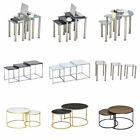 Nested Tables Glass /high Gloss Top Coffee Table Side End Table Home Living Room